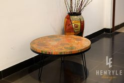 8 Water Lily Leaves Colored-Pencil Coffee Table II 3