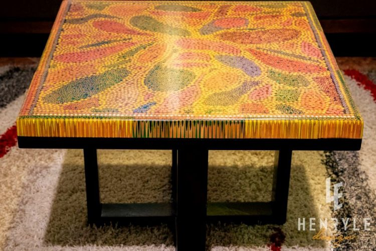 Abstract I Colored-Pencil Coffee Table 3