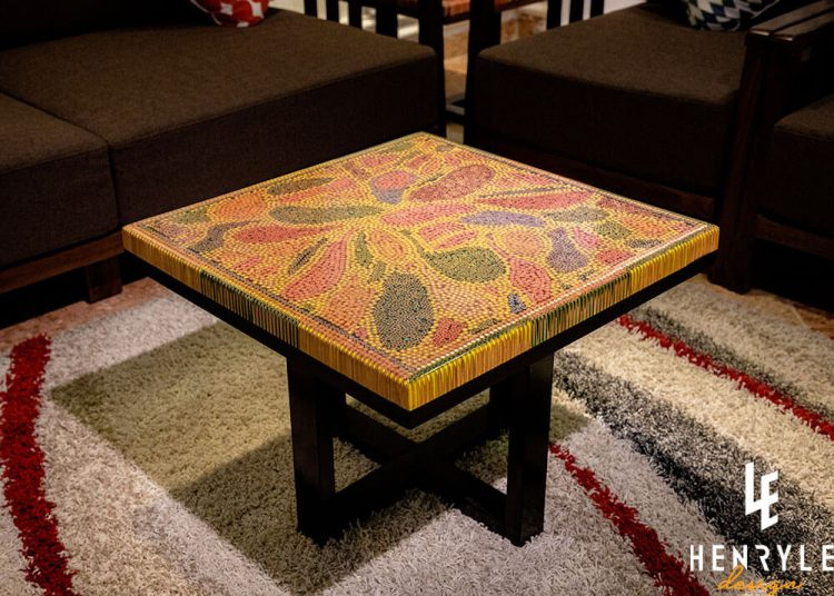 Abstract I Colored-Pencil Coffee Table
