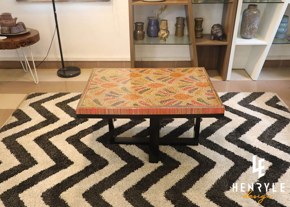 Blooming Fireworks Colored Pencil Coffee Table 1
