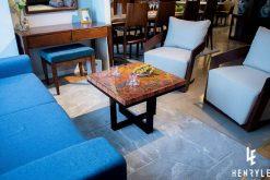 Brilliant Summer Colored-Pencil Coffee Table