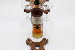 Colored-Pencil Wine Holder with 4 Long Stem Glasses