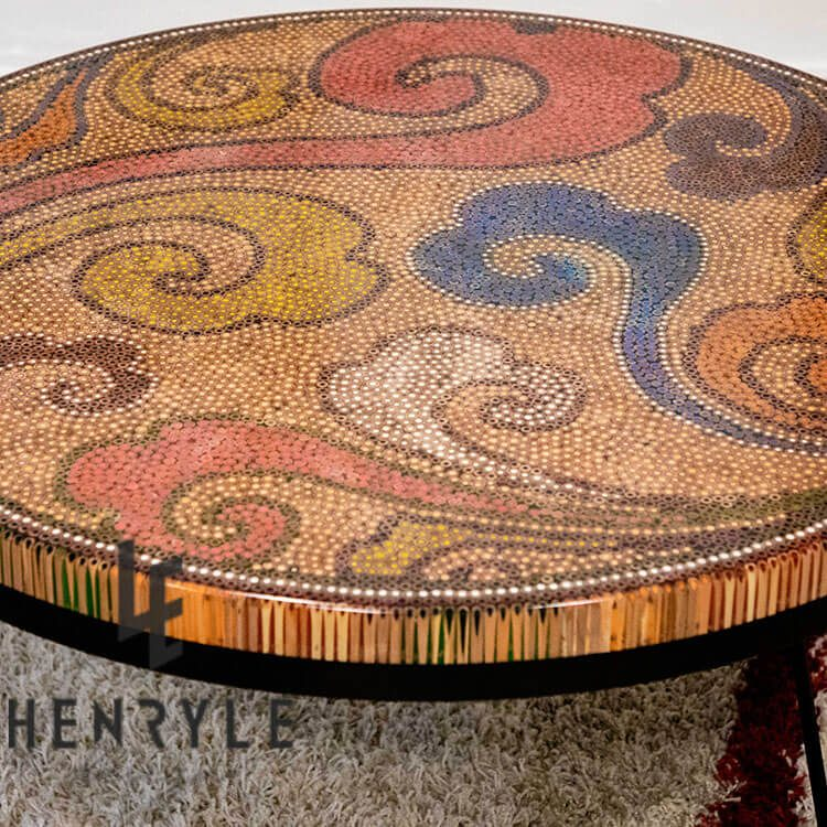 Elysium Colored-Pencil Coffee Table - tea table