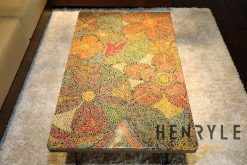 Exotic Flowers Colored-Pencil Coffee Table 5
