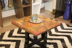 Five Blooms Colored-Pencil Coffee Table