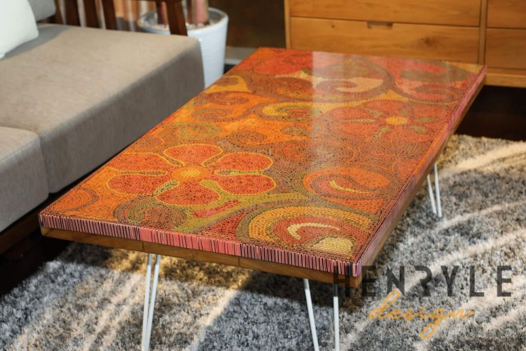 Garden of Eden Colored-Pencil Coffee Table 1