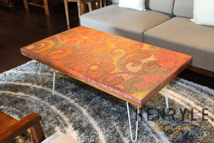 Garden of Eden Colored-Pencil Coffee Table 3