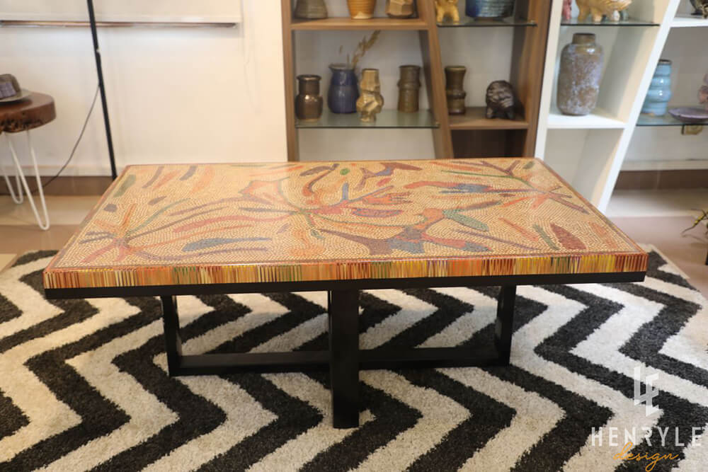 Golden Autumn Colored-Pencil Coffee Table II 1