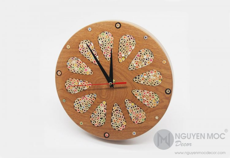 Home Accents Wood Wall Clock