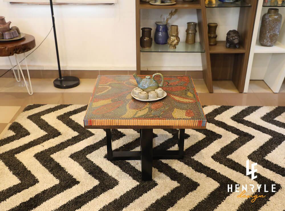 Lotus Pond Colored-Pencil Coffee Table II