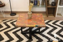 Lotus Pond Colored-Pencil Coffee Table III