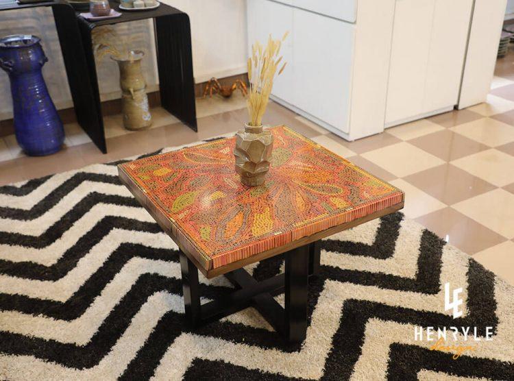Lotus Pond Colored-Pencil Coffee Table III 3