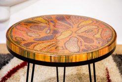 Lotus Pond Colored-Pencil Coffee Table IV
