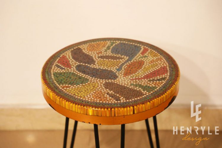 Lotus Pond Colored-Pencil Coffee Table V 2