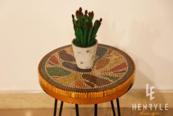 Lotus Pond Colored-Pencil Coffee Table V