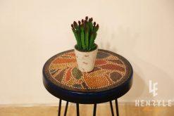 Lotus Pond Colored-Pencil Coffee Table VI