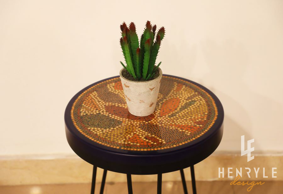 Lotus Pond Colored-Pencil Coffee Table VII 1