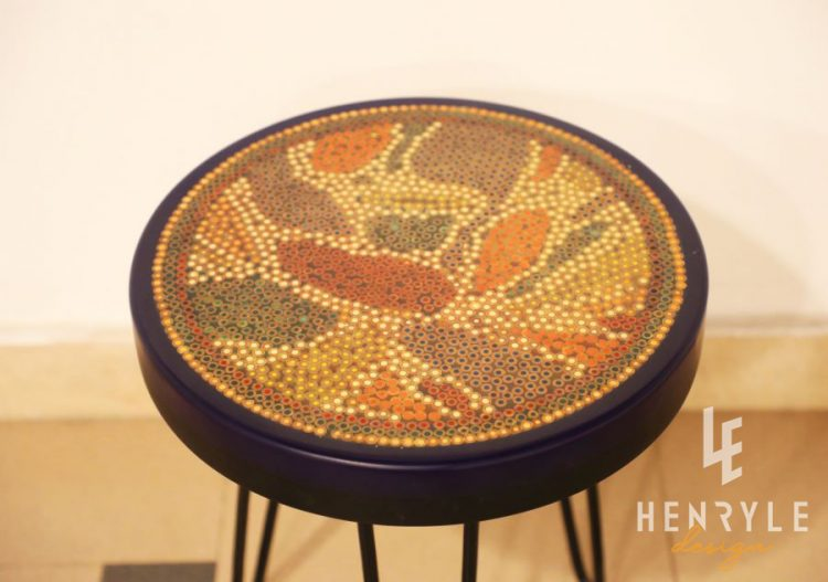 Lotus Pond Colored-Pencil Coffee Table VII 2