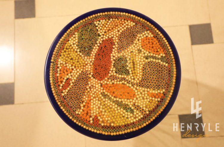 Lotus Pond Colored-Pencil Coffee Table VII