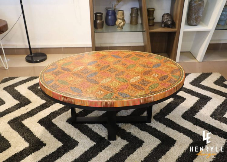 Lucky Coins Colored Pencil Coffee Table II