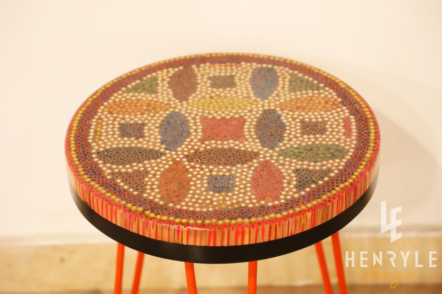 Lucky Coins Colored Pencil Coffee Table V 2