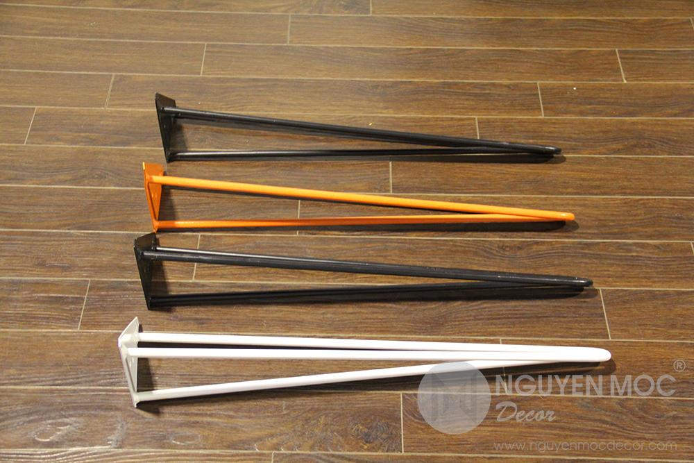 Metal Hairpin Coffee Table Leg 70 Cm 3 Rods Nguyen Moc Decor