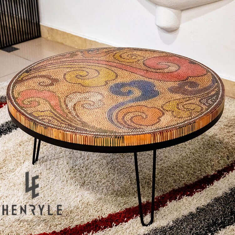 Original Elysium Colored-Pencil Coffee Table