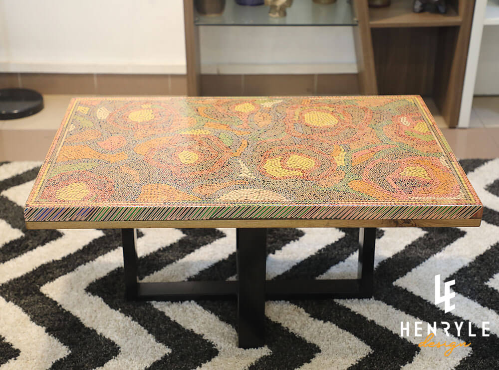 Rose Garden Colored-Pencil Coffee Table II 2