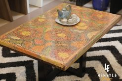 Rose Garden Colored-Pencil Coffee Table II 3