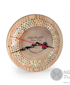 Rustic Rainbow Color Clock