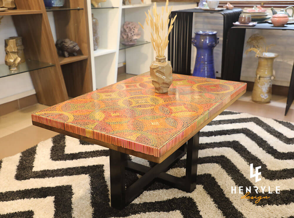 Starry Night Colored-Pencil Coffee Table 1