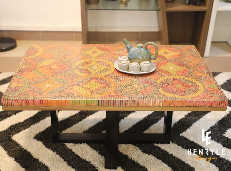 Starry Night Colored-Pencil Coffee Table 2