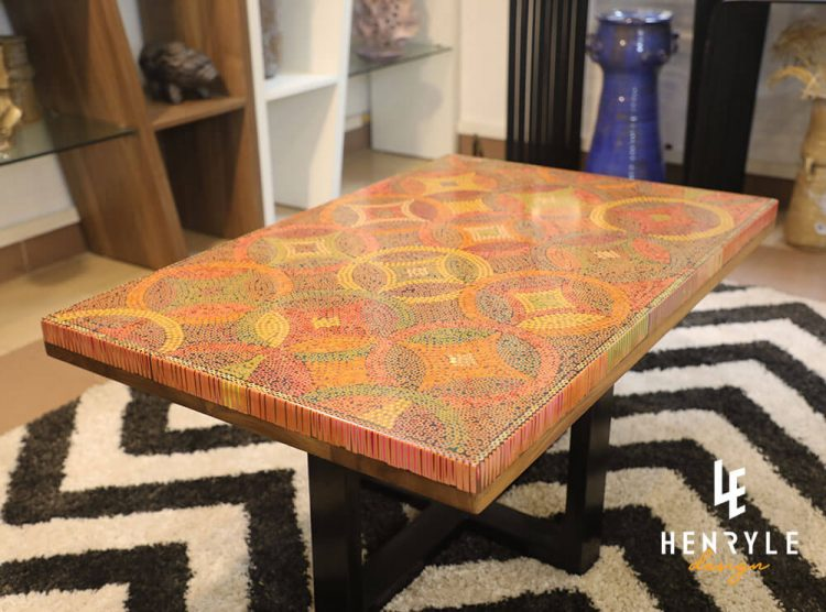 Starry Night Colored-Pencil Coffee Table 4