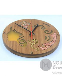 Thalia Muse Colored-Pencil Wood Wall Clock