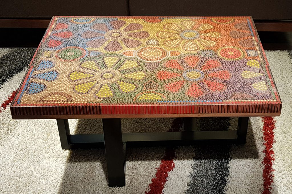Unique Luxury Colored-Pencil Coffee Tables