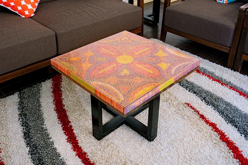 Unique Square Wood Artwork