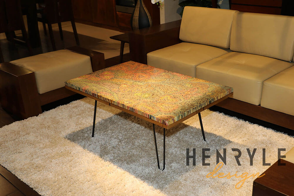 Wildflowers Colored-Pencil Coffee Table 2