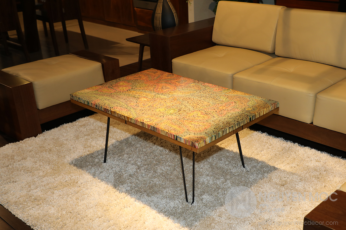 Wildflowers Colored-pencil Coffee Table