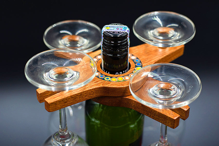 Art Wine Glass & Bottle Holders