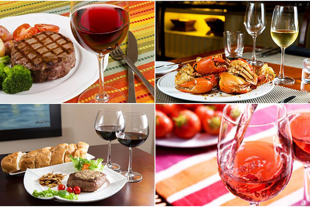 Wine with dishes